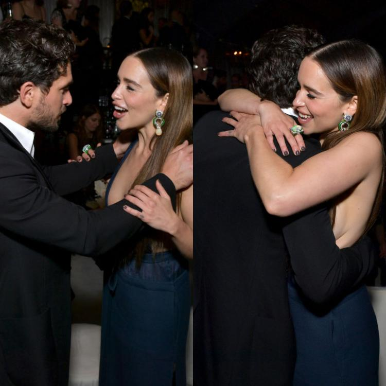 Kit Harington and Emilia Clarke shared a sweet moment during an Emmys 2019 after-party.