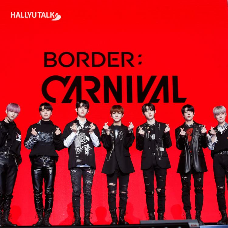 ENHYPEN at the press conference of Border: Carnival's comeback showcase