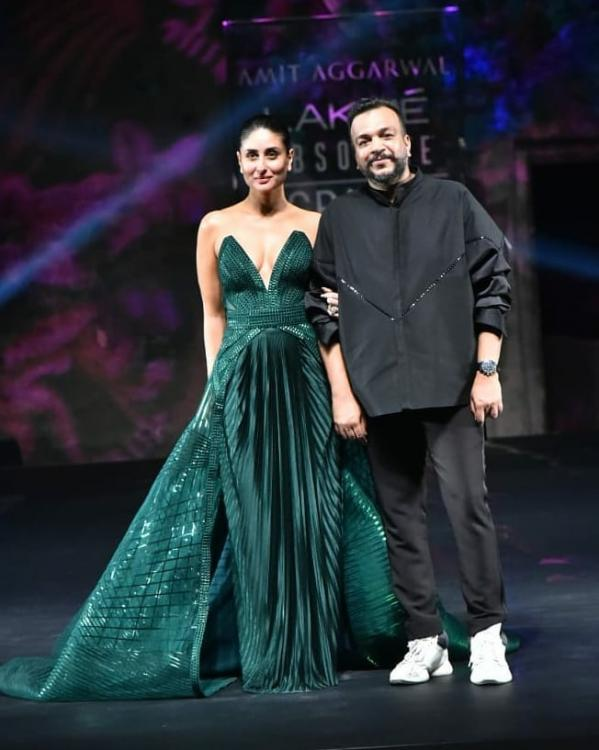Exclusive Amit Aggarwal Reveals What It Was Like To Design A Dress For Kareena Kapoor Khan At Lfw Finale Pinkvilla