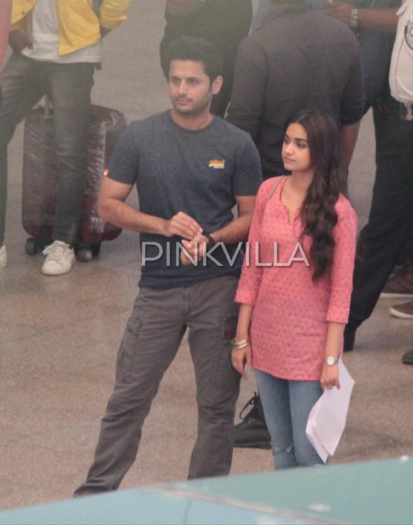 EXCLUSIVE PHOTOS: Keerthy Suresh and Nithiin spotted on the sets of Rang De