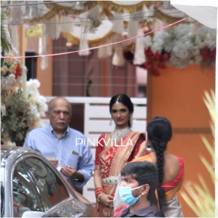 EXCLUSIVE Photos: Nithiin's wife to be Shalini spotted outside actor's residence post their engagement today