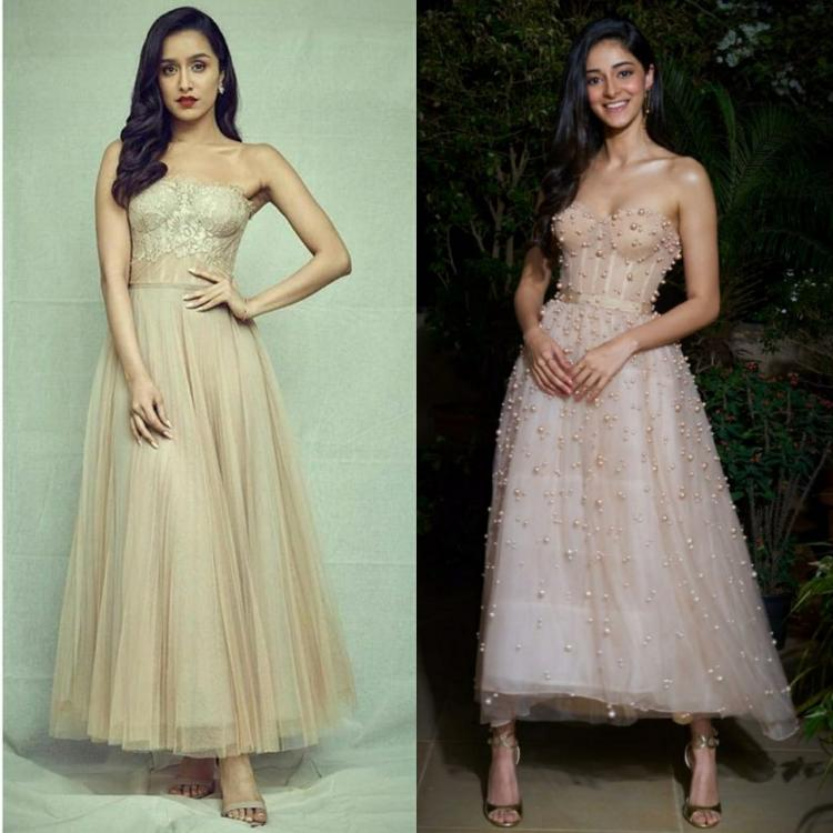 Fashion Faceoff: Shraddha Kapoor or Ananya Panday: Who wore the neutral toned Reem Acra dress better? VOTE