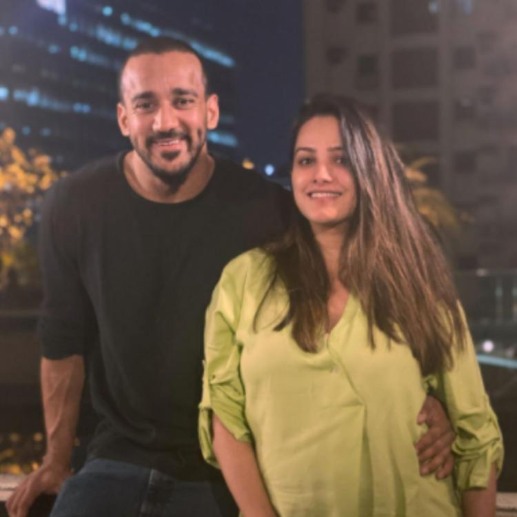 Anita Hassanandani and Rohit Reddy get to enjoy their 'date' night since newborn Aaravv's asleep; PIC