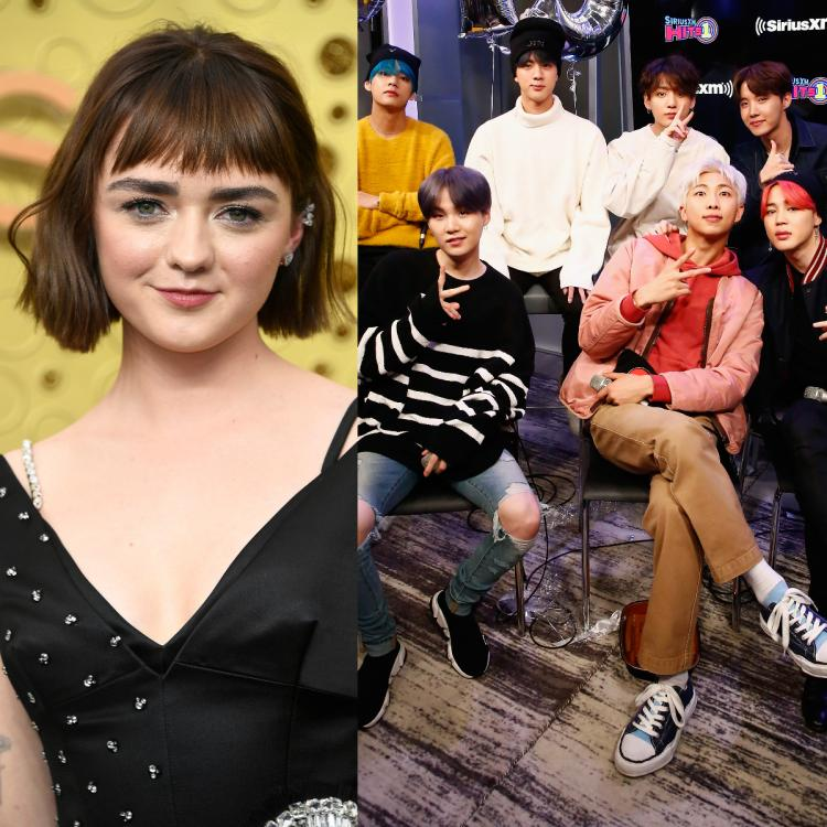 Maisie Williams also watched BTS' Burn The Stage at a London movie theatre with a BTS ARMY member