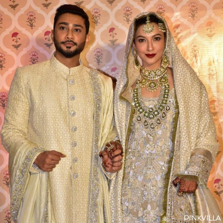 PHOTOS: Gauahar Khan and Zaid Darbar GLISTEN in hues of cream & gold at their Nikaah ceremony