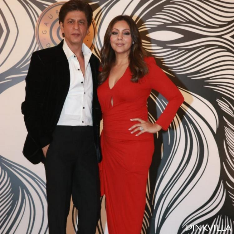 PHOTOS: Shah Rukh Khan and Gauri Khan scream couple goals as they pose for the paps at the latter's party