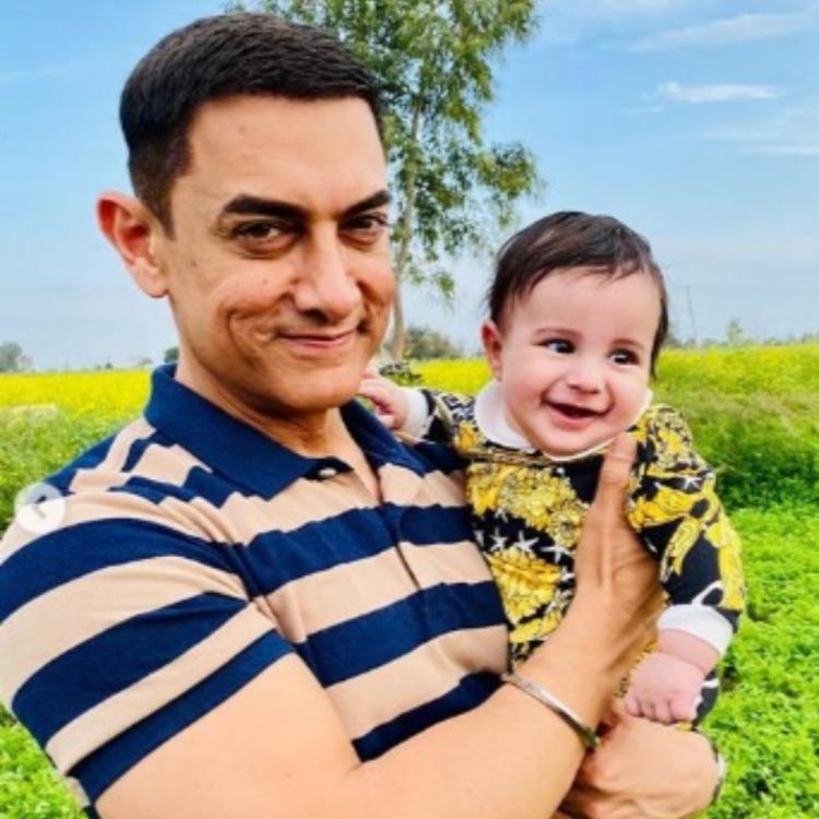 Laal Singh Chaddha actor Aamir Khan shares a cute moment with Gippy Grewal's son Gurbaaz; Check it out