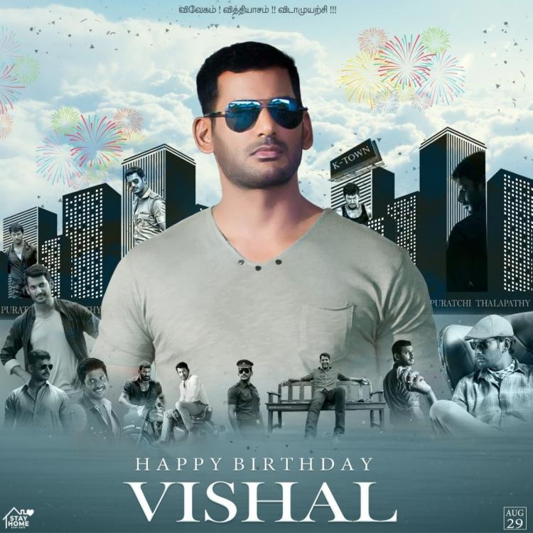 Happy Birthday Vishal Fans of the Thupparivaalan actor shower him with wishes on Twitter  Happy Birthday Vishal: Fans shower him with wishes on Twitter happy birthday vishal fans of the thupparivaalan actor shower him with wishes on twitter