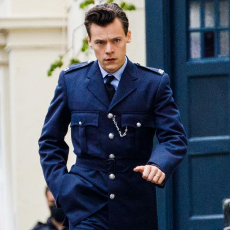 Harry Styles photos from My Policeman sets.