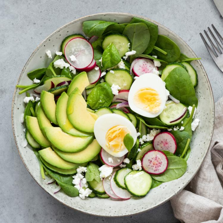 Healthy toppings for filling salads