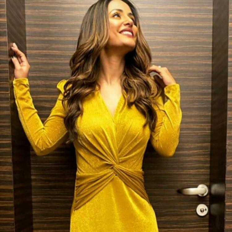 Hina Khan kicks off New Year 2020 in a dazzling gown & we can't stop staring at her chic look; Check it out