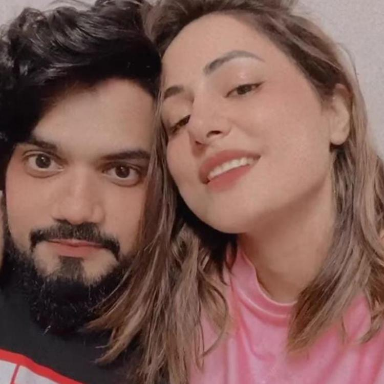 Bigg Boss 14 senior Hina Khan paints the town red with beau Rocky Jaiswal post her exit from show; See pics