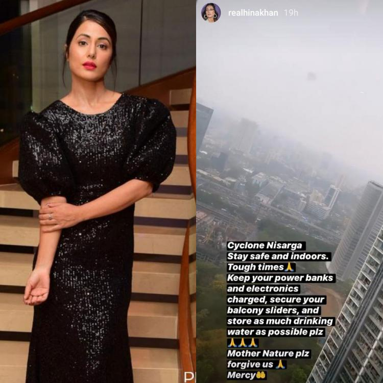 Hina Khan sends prayers ahead of Cyclone Nisarga; Pleads for mercy and forgiveness from mother nature