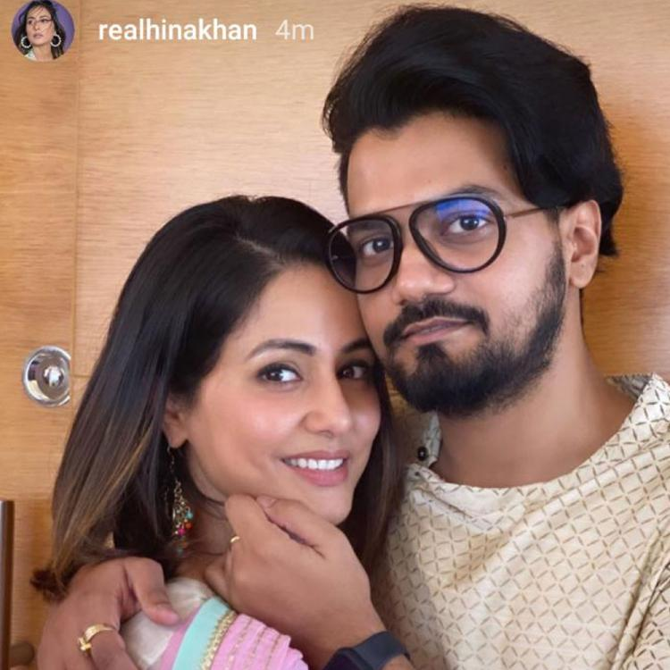 Hina Khan shares pleasant pictures with her beau Rocky Jaiswal and it is 'pure love'