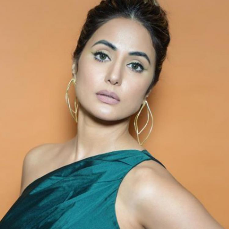 Hina Khan looks regal in an emerald green gown as she poses in her latest PHOTOS