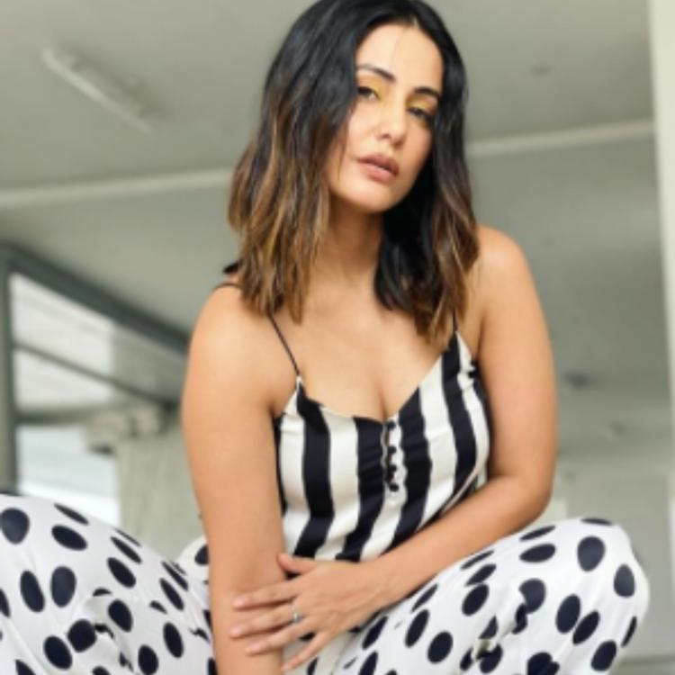 Hina Khan shows us how to slay in a polka dot outfit