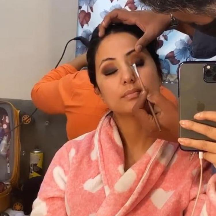 Hina Khan shares a BTS video of her 'vanity van' makeup session and we wonder if it is for Naagin 5