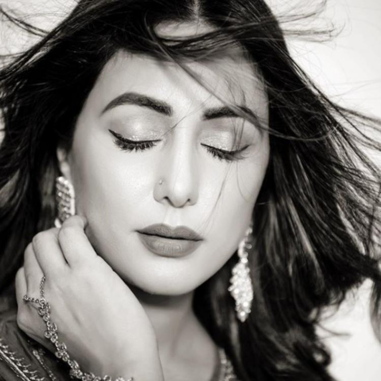 Hina Khan's expression leaves fans awestruck as she strikes a pose for a monochrome PHOTO