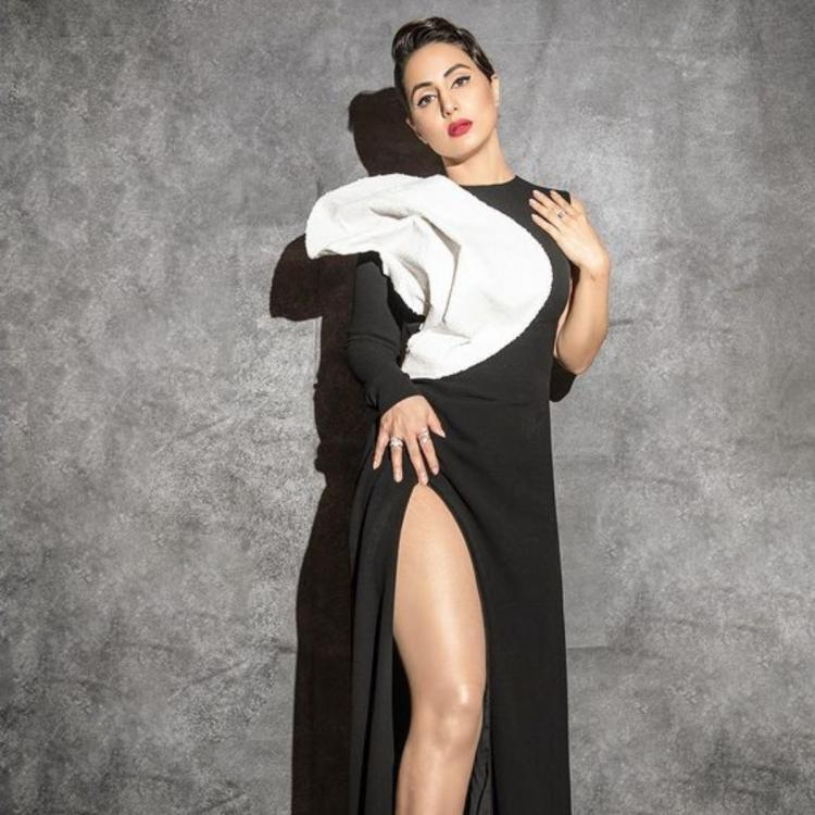 Hina Khan channels her inner diva as she stuns in a black and white gown; See PHOTOS