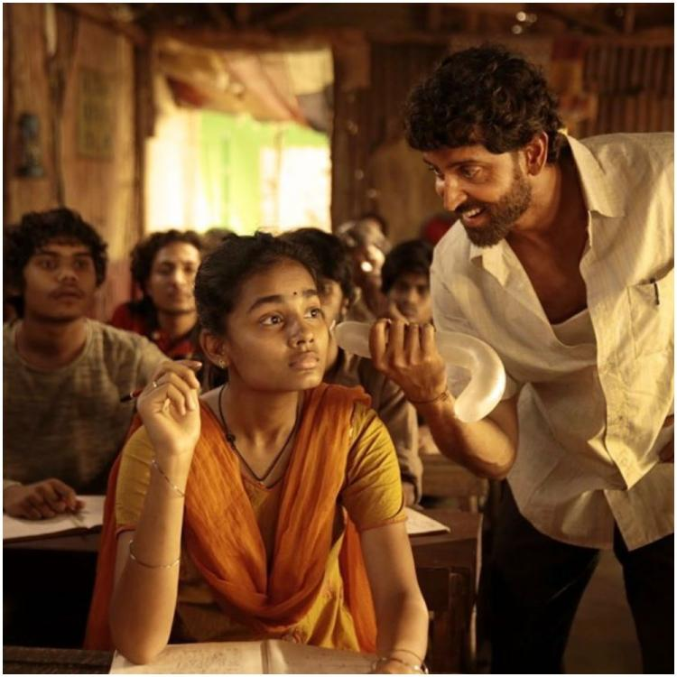 Super 30 New Still: Hrithik Roshan as mathematician Anand Kumar introduces two heroic students from his batch