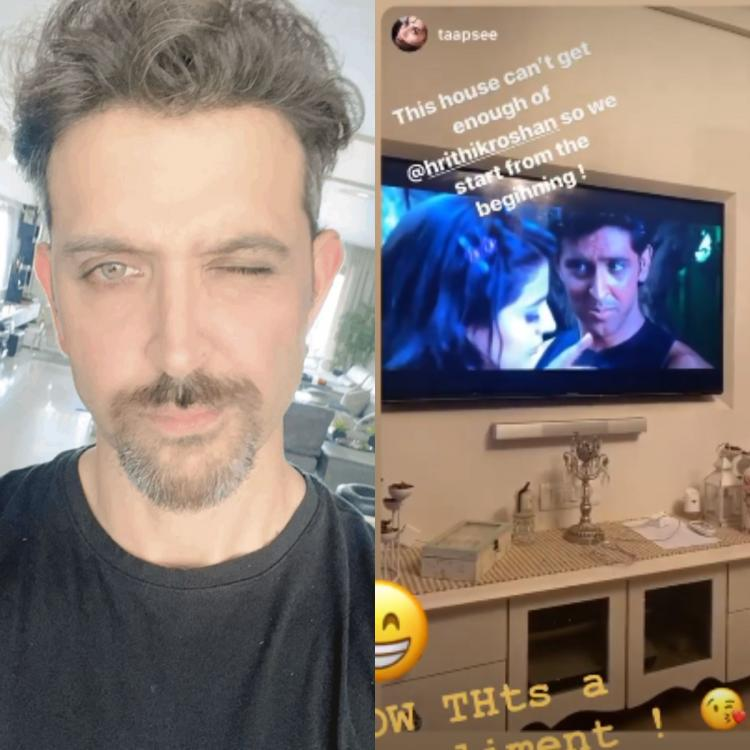 Hrithik Roshan REACTS to Taapsee Pannu and her sister fangirling over him while watching Kaho Naa Pyaar Hai
