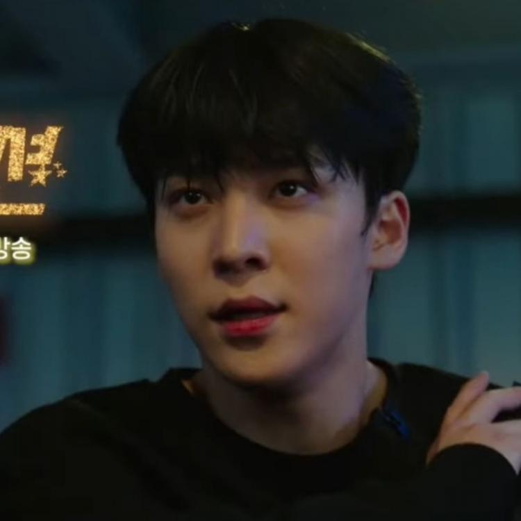 A still from the official teaser of the kdrama Imitation featuring ATEEZ's Yunho