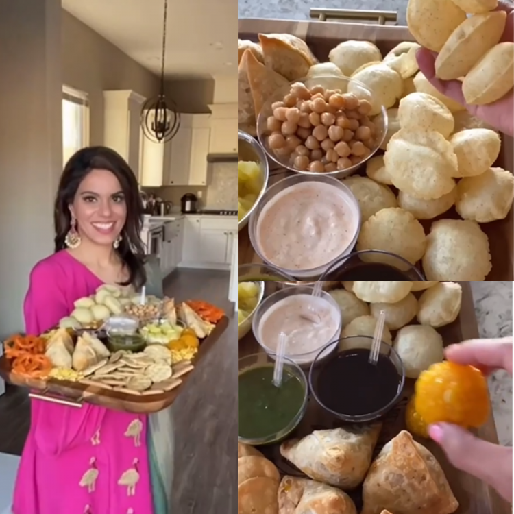 Indian-American influencer introduces us to her Charcuterie boards with a desi twist