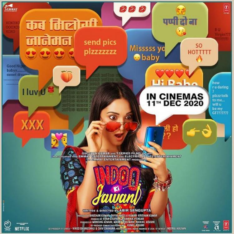 Excited Kiara Advani drops Indoo Ki Jawaani's quirky poster with theatrical release date; Says It's happening
