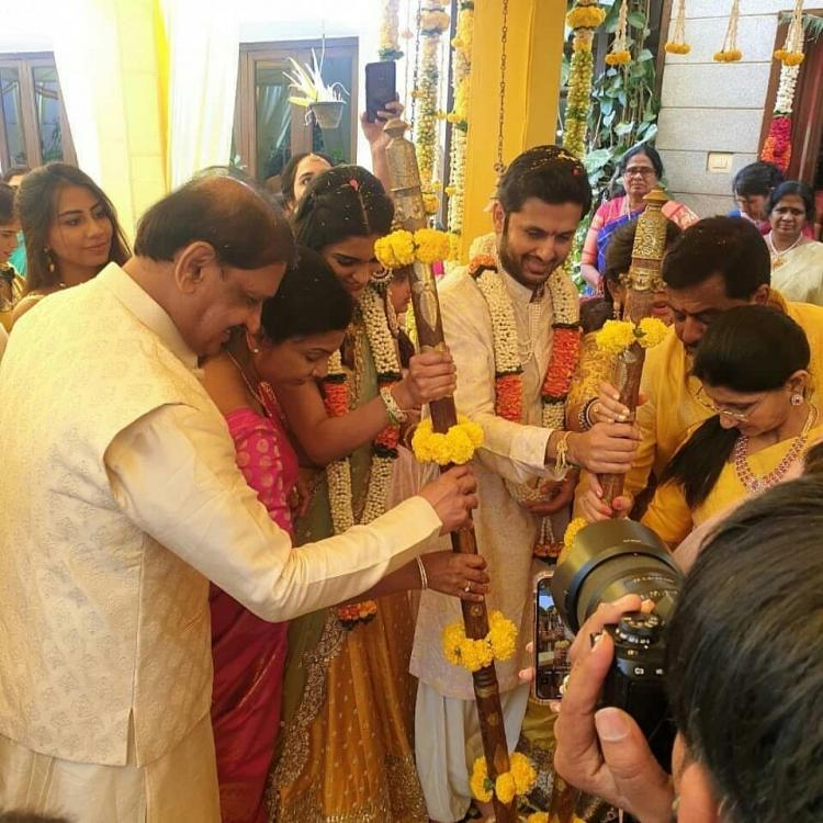 Inside Photos: Nithiin and Shalini's perfect and blissful moments from their engagement ceremony