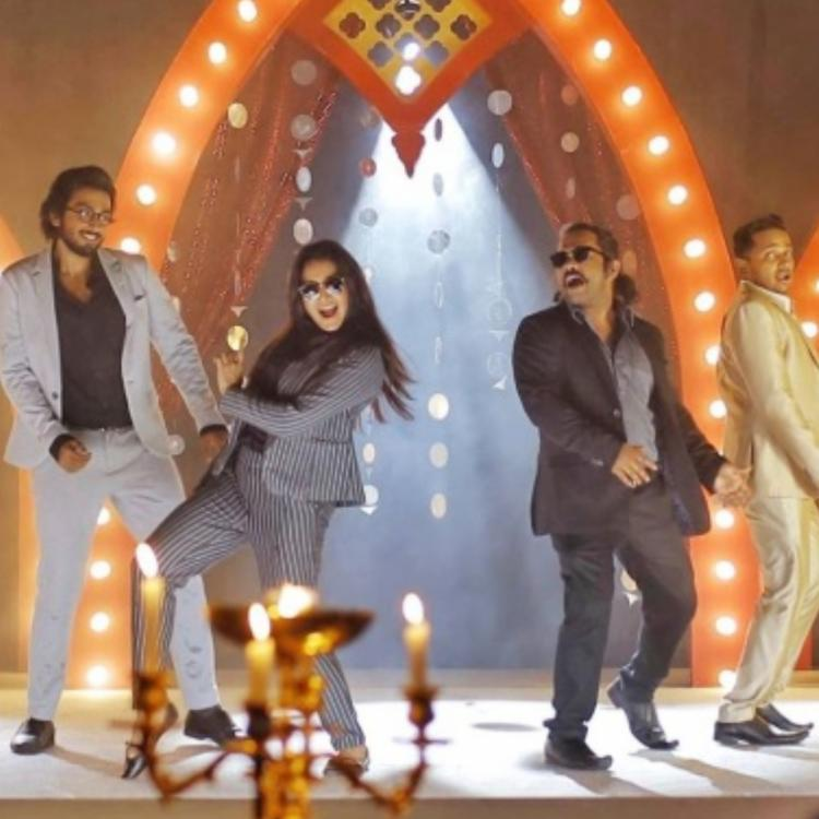 Manju Warrier shakes a leg in a chic black striped suit in Jack N Jill's latest still; Check it out