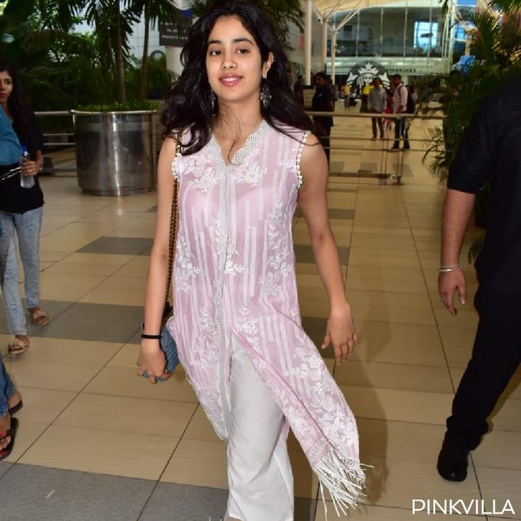 PHOTOS: Janhvi Kapoor slays in a pink kurta as she gets papped coming back from Lucknow