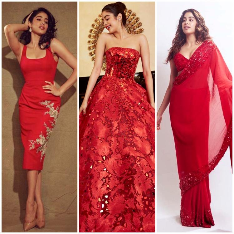 5 Times Janhvi Kapoor stole the limelight in red ensembles
