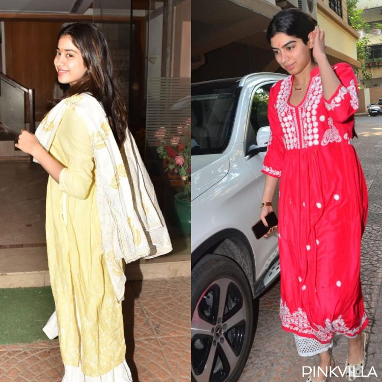 PHOTOS: Janhvi Kapoor and Khushi Kapoor don a desi girl, no make up look as they step out in the city