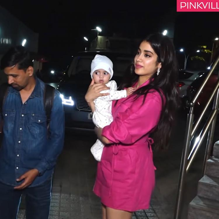 Janhvi Kapoor playing with her assistant's baby at Roohi screening is the cutest thing you'll see today; WATCH