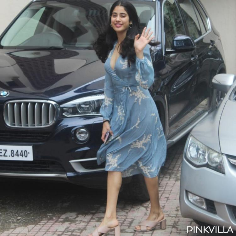 PHOTOS: Janhvi Kapoor is our Woman Crush Wednesday as she slays in a chic wrap dress post her Pilates session