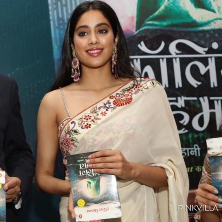 Janhvi Kapoor gets savagely trolled for holding a book upside down at an event in New Delhi