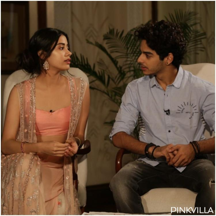 Janhvi Kapoor, Ishaan Khatter look engrossed in a chat in a throwback pic & leave us wondering what's the tea