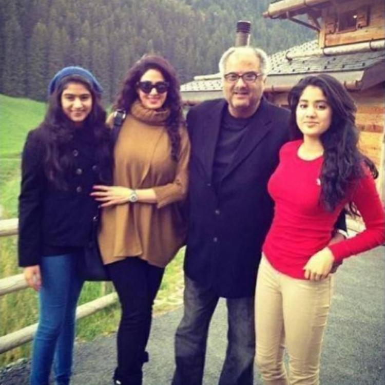 Janhvi Kapoor & Khushi's throwback PHOTO with Sridevi & Boney Kapoor from their Swiss vacay looks endearing
