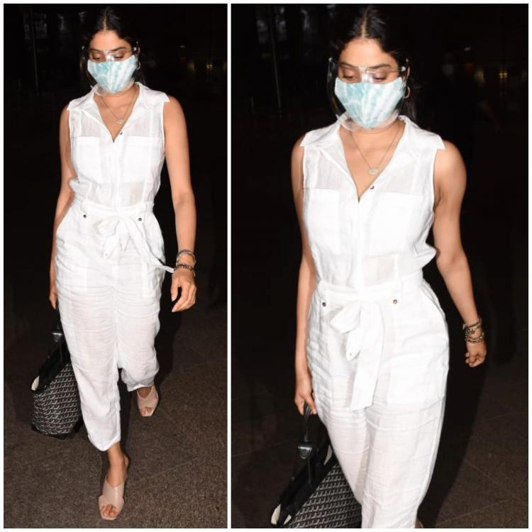Janhvi Kapoor keeps it chic in a Rs 24K linen Reiss jumpsuit as she returns from Goa: Yay or Nay?