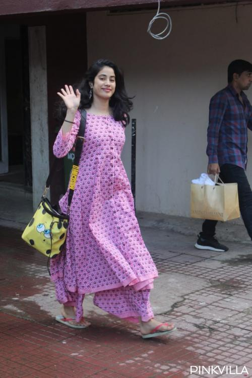 PHOTOS: Janhvi Kapoor switches on her desi avatar as she steps out of the gym in a gorgeous ethnic look