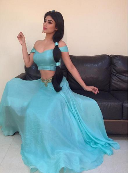 In Pics Mouni Roy Channelizes The Disney Princess Look