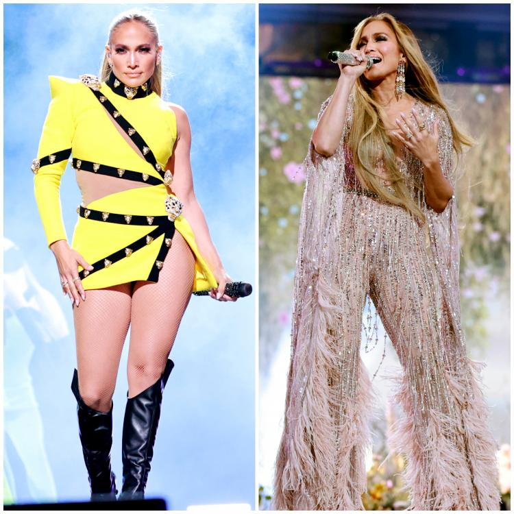 JLo performing on stage