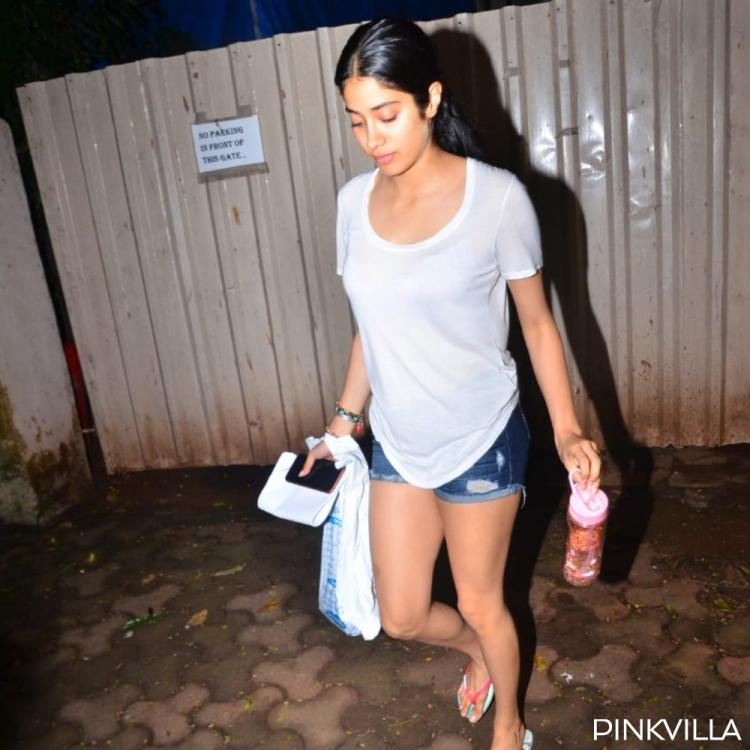 PHOTOS: Janhvi Kapoor opts for a deglam look as she goes out and about in the city