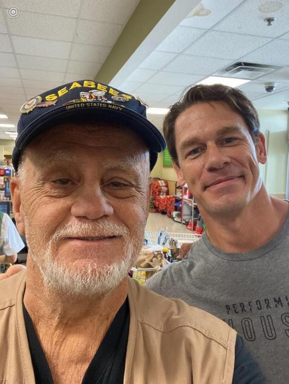 John Cena's random act of kindness brought a happy smile on the face of a retired Vietnam veteran.