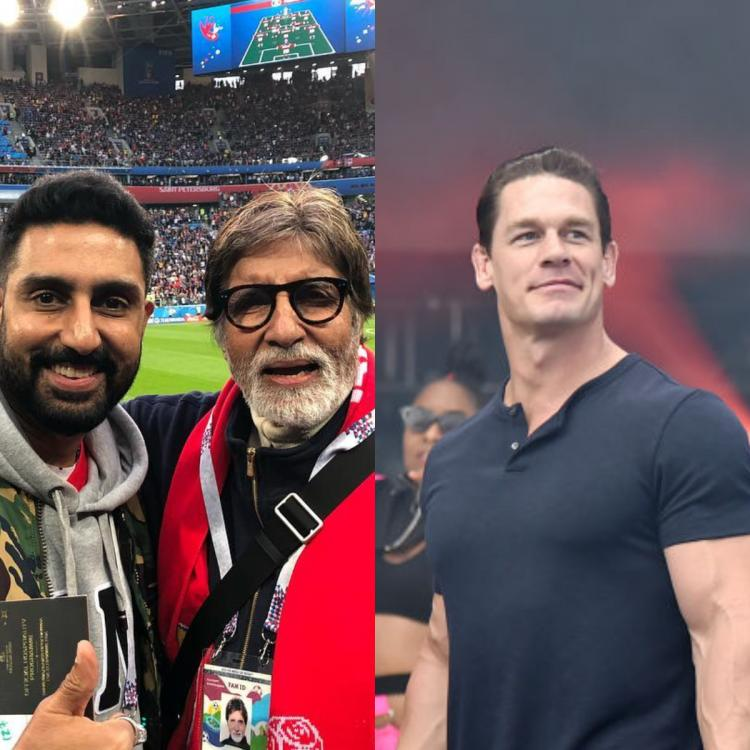 John Cena shares Amitabh Bachchan and Abhishek Bachchan's photo after the duo hospitalised for COVID 19