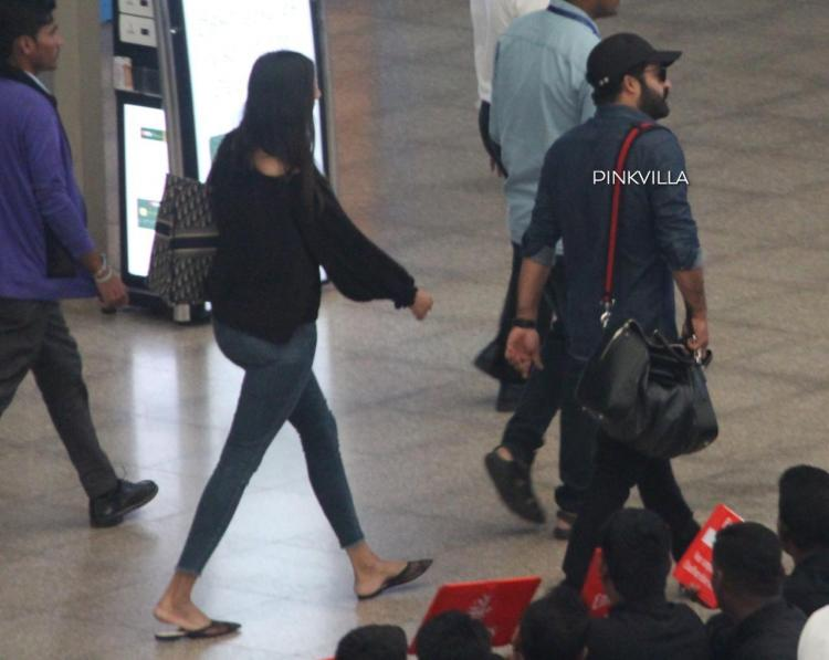 PHOTOS: Jr NTR with wife Lakshmi Pranathi spotted at airport as he returned from Bulgaria post RRR shoot