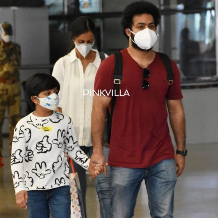 Jr NTR airport photos with family