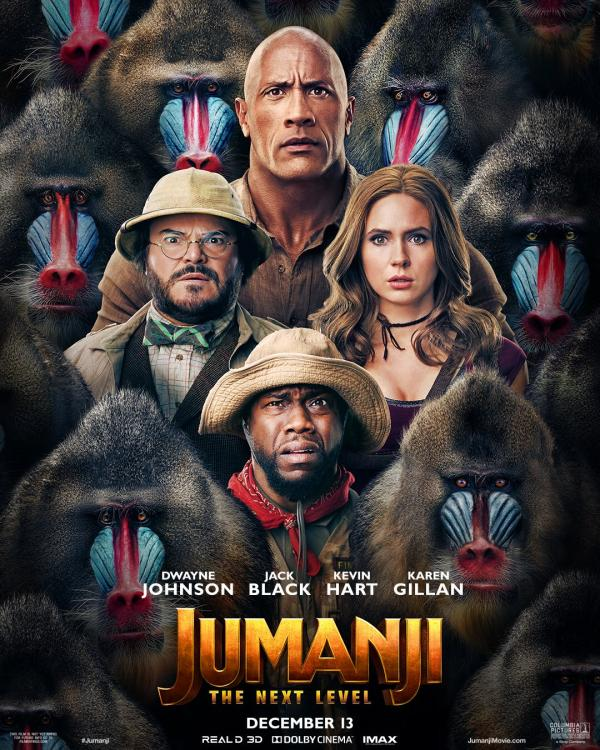 Jumanji: The Next Level is slated to release in India on December 13, 2019.
