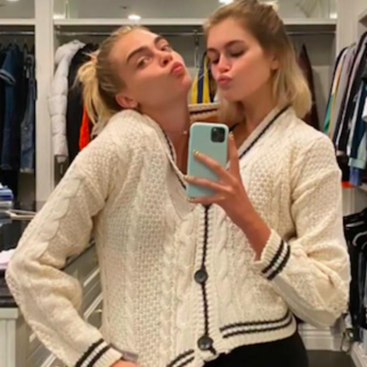 Kaia Gerber and Cara Delevingne become 'solemates' as they get matching foot tattoos on latter's 28th birthday