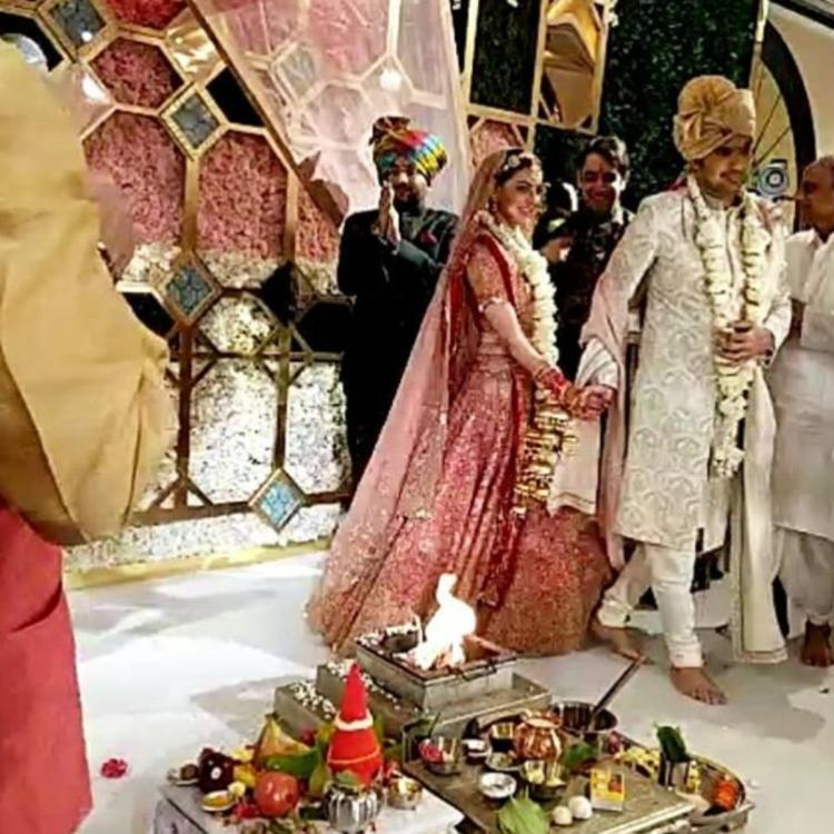 From Pheras to holding hands: Kajal Aggarwal & Gautam Kitchlu look breathtakingly beautiful as newlyweds; PICS